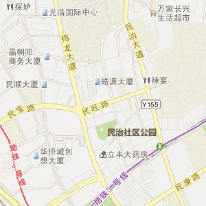 深圳公交车线路查询 深圳公交车线路 ->b657路上行  显示全部站点名称