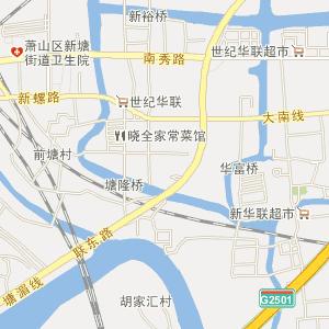 解放前萧山地图