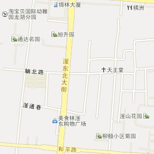 > 滏东街道地图;