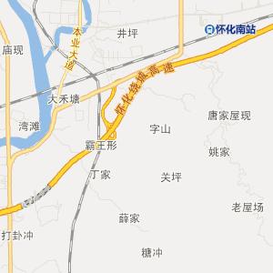 怀化公交车线路 ->4路支上行  显示全部站点名称 汽车南站 终点 天星