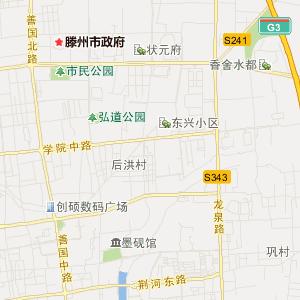 滕州市地图_滕州市地图全图_滕州市地图高清版_枣庄市